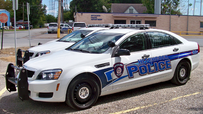 Hitchcock_Police_Car_at_Police_Station_in_Galveston_County